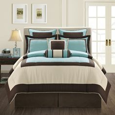 This classic hotel-look bedding set is designed to be both stylish and comfortable.  This comforter is constructed of heavy 110 GSM microfiber twill fabric that feels softer than 100-percent cotton.