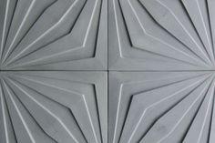 18x18 Compass Star Natural Gray http://www.artobrick.com/category/arto-tile-collections/concrete