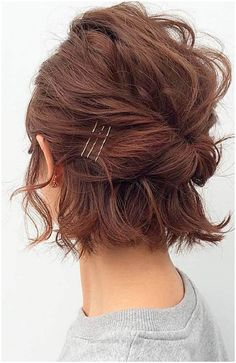 Formal Hairstyles For Short Hair, Easy Updo Hairstyles, Short Hair Cuts For Women, Hairstyle Ideas, Short Hair Updo Easy, Hair Ideas, Wedding Hairstyles, Bob Hair Updo, Simple Updo