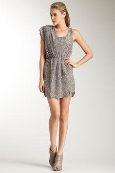 Greylin Drape Detail Single Sleeve Print Dress