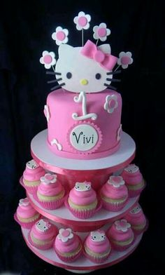 Hello Kitty Birthday Cute Love the bottom layer Hello
