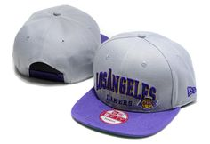 NBA LA Lakers Snapback Hats Caps NewEra Gray 2560 only US$8.90