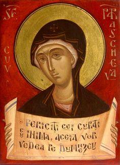 Parascheva by Gabriel Toma Chituc St P, Byzantine Icons, Orthodox Christianity, Orthodox Icons, Gabriel, Saints, Images, Spirituality, Modern