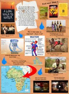 "Glogpedia internet poster ""A Long Walk to Water"""