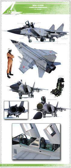 MiG-31 by ABiator on DeviantArt