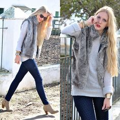 Fur and dots (by Marta M) http://lookbook.nu/look/4316773-Fur-and-dots