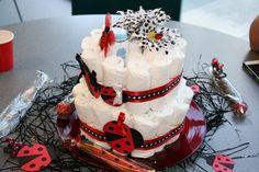 lady bug diaper cake