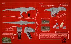 Jurassicraft 2 Showcase Jurassicraft Pre Release Blueprints Dinosaurs Indominus Rex I Rex Minecraft Plans, Minecraft Mods, Minecraft Designs, Minecraft Stuff, Jurassic Craft, Jurassic Park, Indominus Rex, Tyrannosaurus Rex, Jurassic World 2015