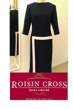 At Roisin Cross Silks, Dublin we now have a dressmaking service, where our dressmakers can create a dress or garment of your choice. Ink Blue, Groom Dress, Blue Wool, Dressmaking, Day Dresses, Mother Of The Bride, Designer Dresses, Two Piece Skirt Set, Silk