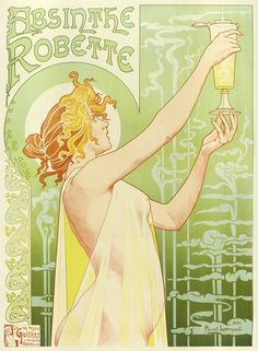 Absinthe Robette...I love vintage French poster art!