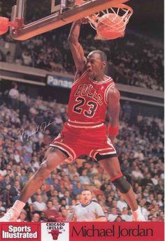 Michael Jordan Signature Dunk Sports Illustrated Poster 24x36 – BananaRoad