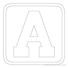 Free Printable Upper Case Alphabet Template  Printable Letter