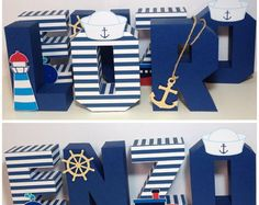 69 Ideas for baby shower ides for boys decorations anchors wooden letters Baby Shower Themes, Baby Boy Shower, Baby Shower Marinero, Anchor Baby Showers, Sailor Theme, Deco Marine, Nautical Party, Boy Decor, 1st Boy Birthday
