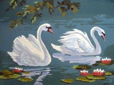 On Painted On is a 2005 studio album by Texas based blues rock band The Fabulous Thunderbirds. It was produced by Steve Berlin of Los Lobos and features Rachel Nagy of The Detroit Cobras. Swan Painting, Fabric Painting, Painting & Drawing, Paint By Number Vintage, Pichwai Paintings, Bird Art, Beautiful Birds, Painting Inspiration, Watercolor Art