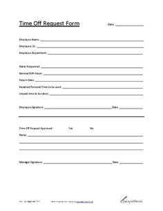 with this form the employee can submit their vacation requests to the supervisors this form documents the days that the employee would like to be gone