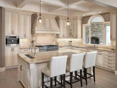Cambria Berkeley White Cabinets Backsplash Ideas - In Cambria Berkeley White Cabinets Backsplash ideas, the solid color subway tiles and very pale mélange patterns on the tiles can satisfy the homeowners.