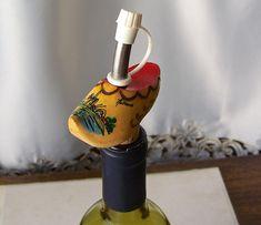 Vintage Bottle Stopper Pour Spout Holland Shoe