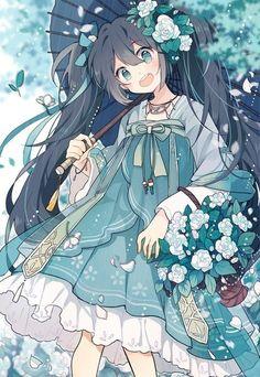 Anime art on Oniarts Manga Anime, Anime Chibi, Manga Girl, Manga Kawaii, Anime Art Girl, Anime Girls, Beautiful Anime Girl, I Love Anime, Anime Angel