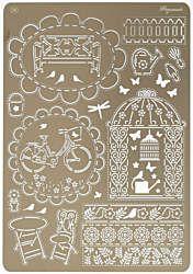 Summer Garden Multi-Grid Pergamano Stencil by Ecstasy Crafts (4007238)