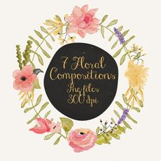 Floral compositions by Webvilla on Creative Market