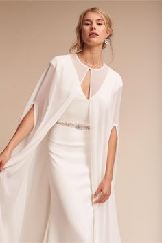 BHLDN's Lotus Threads Dorrit Cape in Ivory