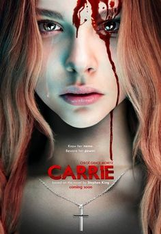 'CARRIE' (MGM/Screen Gems, is the third film adaptation of Stephen King's 1974 novel of the same name. The film stars Chloë Grace Moretz as Carrie White, and Julianne Moore as Carrie's mother, Margaret White. The movie will be released on October Halloween Movies, Scary Movies, Great Movies, Movies Free, Popular Movies, Horror Movie Posters, Horror Movies, Horror Tale, Horror Films