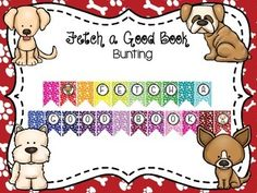This is a dog themed bunting. Just print, cut out, hole punch once on each top… Classroom Labels Free, Classroom Themes, Classroom Organization, Media Center, Hole Punch, Bulletin Board, Teacher Stuff, Triangles, Bunting