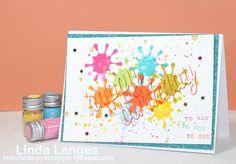 MFT Happy Birthday Die-Namics; birthday card; #mftstamps; #simonsaysstamp; #SSSfave; camouflage die cutting.