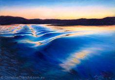 Evening Cruise Clark Art, Vibrant Colors, Colours, Cruise, Waves, Boat, Portrait, Outdoor, Art