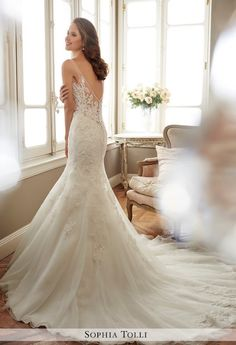 Sophia Tolli wedding dress; click to see more dresses from this collection