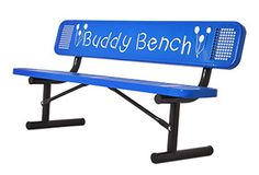 6-Foot Buddy Bench- UltraSite™ is pleased to offer their version of the Buddy Bench!  The Buddy Bench helps facilitate empathy and compassion from children of all ages towards their own peers, when they see anyone sitting alone on the bench. One of the main purposes behind the Buddy Bench is to bring children together, even children who may not know one another. (http://www.noahsplay.com/playground-equipment-needs/child-care/6-foot-buddy-bench/)