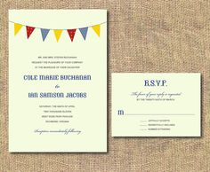 DIY Printable Wedding Invitation  by iheartpaperandthread on Etsy, $35.00