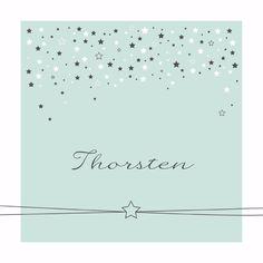 Lief geboortekaartje met heel veel sterren, voor een jongen.