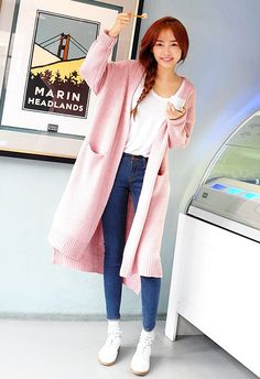 [STYLENANDA] LOOSE FIT KNIT CARDIGAN