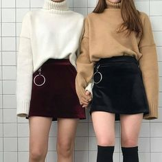 Skirts and sweaters.   #womensfashion #style #outfitinspo