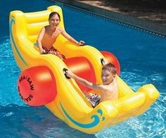 Inflatable See-Saw-- I would prob. be having more fun than kids on this!