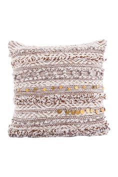 "Karma Living Romantic Decorative Pillow - 18"" x 18"" - Brown"