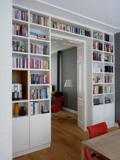 Smart home TV pole Home Library Design, Home Office Design, House Design, Design Desk, Living Pequeños, Home Living Room, Modern Living, Room Interior, Interior Design Living Room