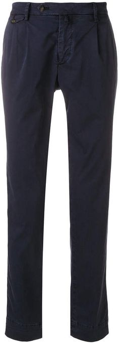 Briglia 1949 tapered chinos #blend#cotton#Blue