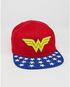 Embroidered Wonder Woman DC Snapback Hat - Spencer s Gorras 2722c2acdf7