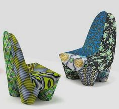 Colourful chairs inspired by Africa