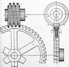 Simple Worm Gear / Parts mechanical advantage Mechanical Gears, Mechanical Design, Mechanical Engineering, Mechanical Power, Metal Lathe Tools, Kinetic Toys, Mechanical Advantage, 3d Cnc, Leather Dog Collars