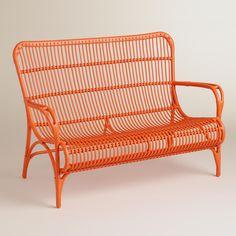 Orange Hanalei Occasional Bench   World Market
