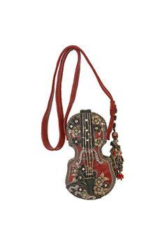 YOU PICKED IT!! Mary Frances Vintage Inspired Floral Violin Handbag