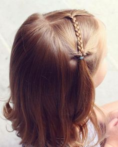 coiffure fillette jolie idée simple #hairstyles #girl