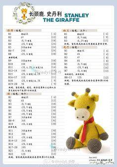 Giraffe crochet pattern - free