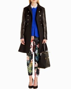 Ted Baker Trench Coat 2014 Ted Baker Mutisia Contrast Sleeve Trench Coat, Black - Fashion For Linda