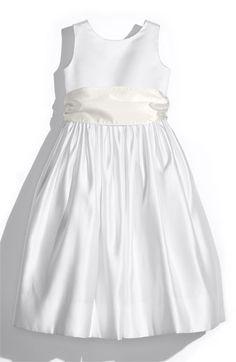 Girl's Us Angels White Tank Dress with Satin Sash