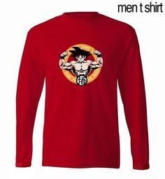 """""""Strong as Goku"""" Cotton Long Sleeve Shirt - GeoDapper"""