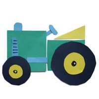 Tractor craft and lesson for preschool and kindergarten